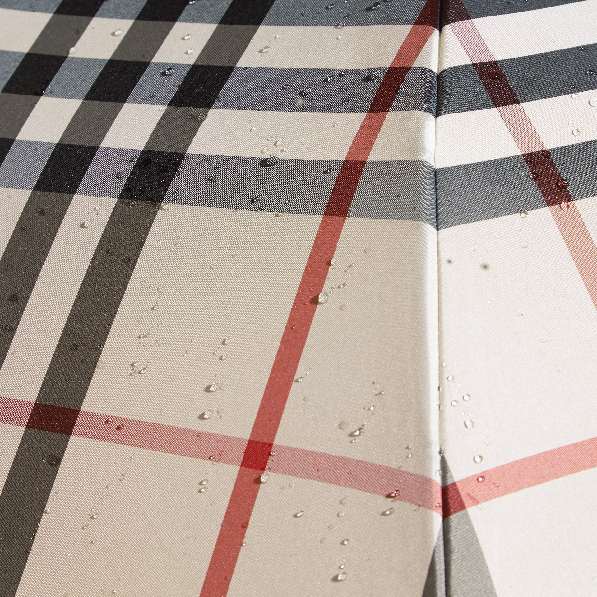 Check Folding Umbrella in Stone | Burberry Singapore - gallery image 2
