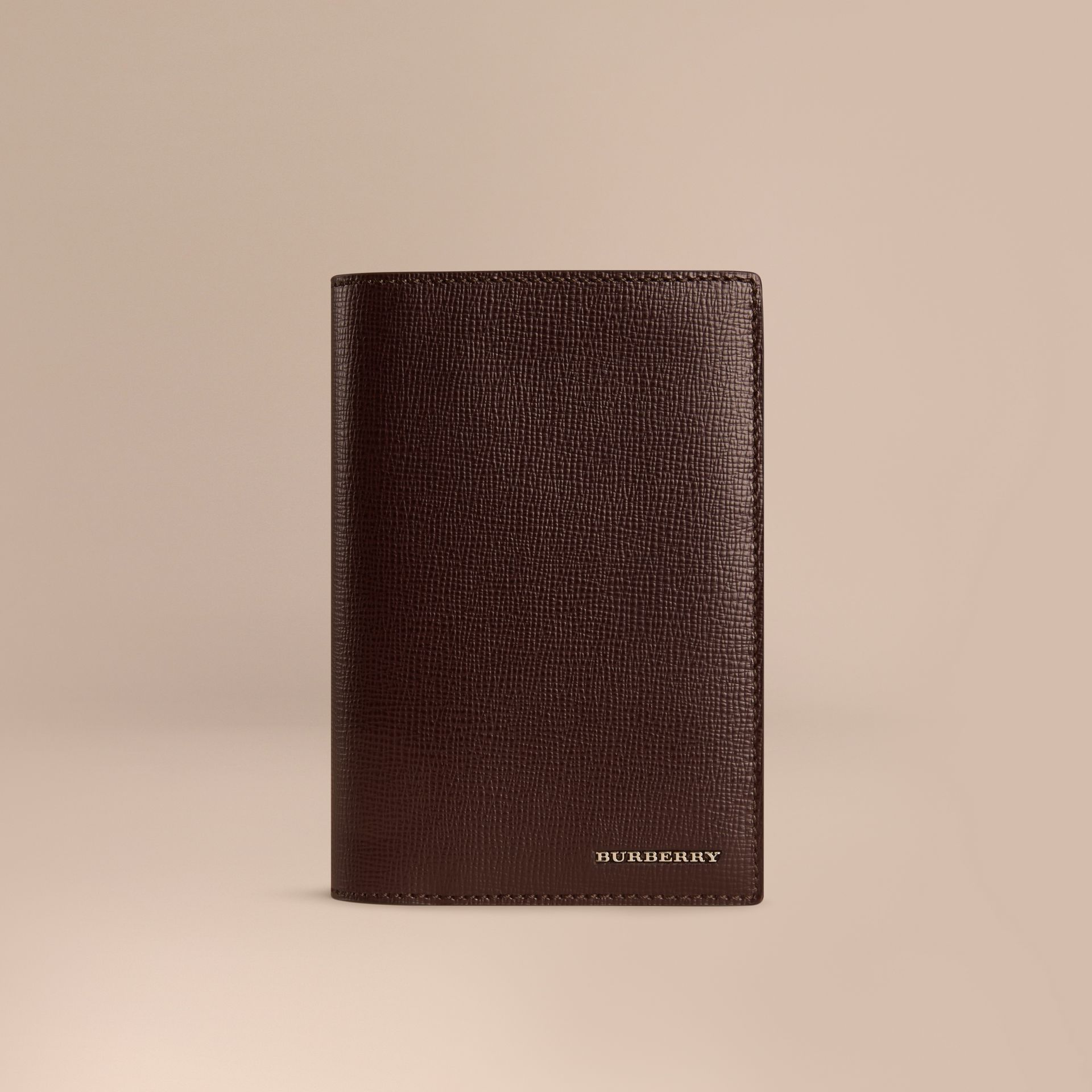 Wine London Leather Passport Cover Wine - gallery image 1