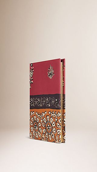 Floral Print Leather A5 Notebook