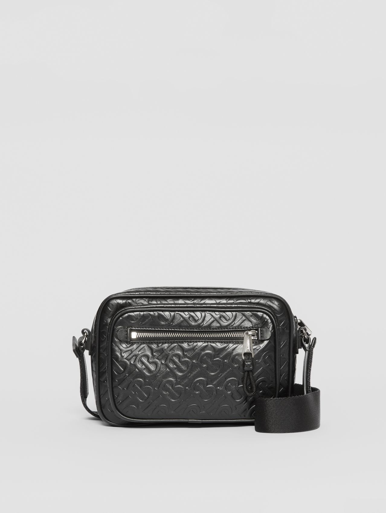 Monogram Leather Crossbody Bag (Black)