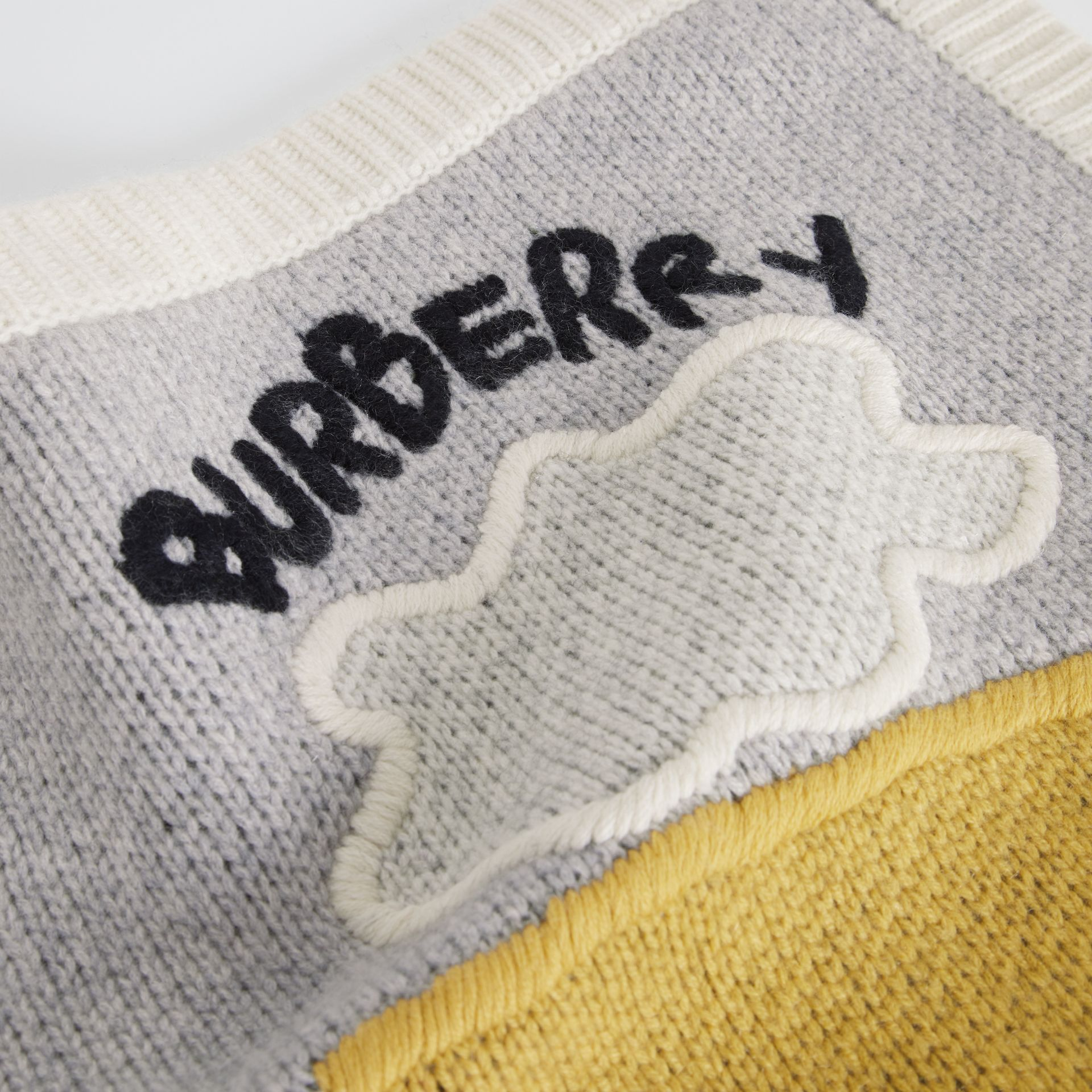 Landscape Cashmere Wool Blend Baby Blanket in Multicolour - Children | Burberry Australia - gallery image 1