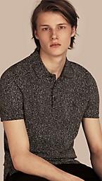 Painterly Spot Print Cotton Polo Shirt