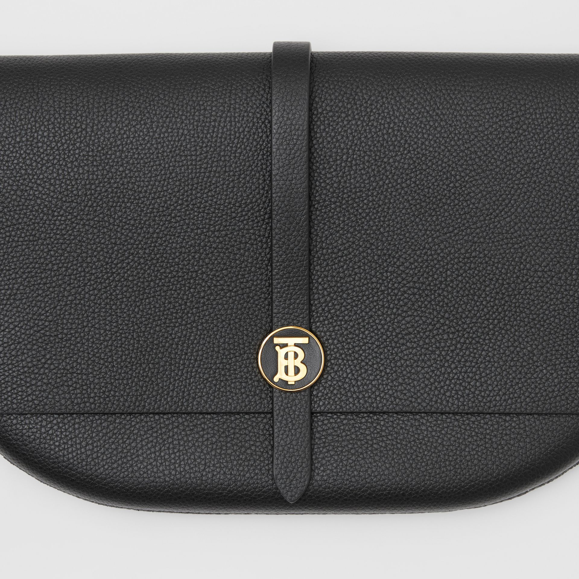 Grainy Leather Anne Clutch in Black - Women | Burberry United Kingdom - gallery image 1