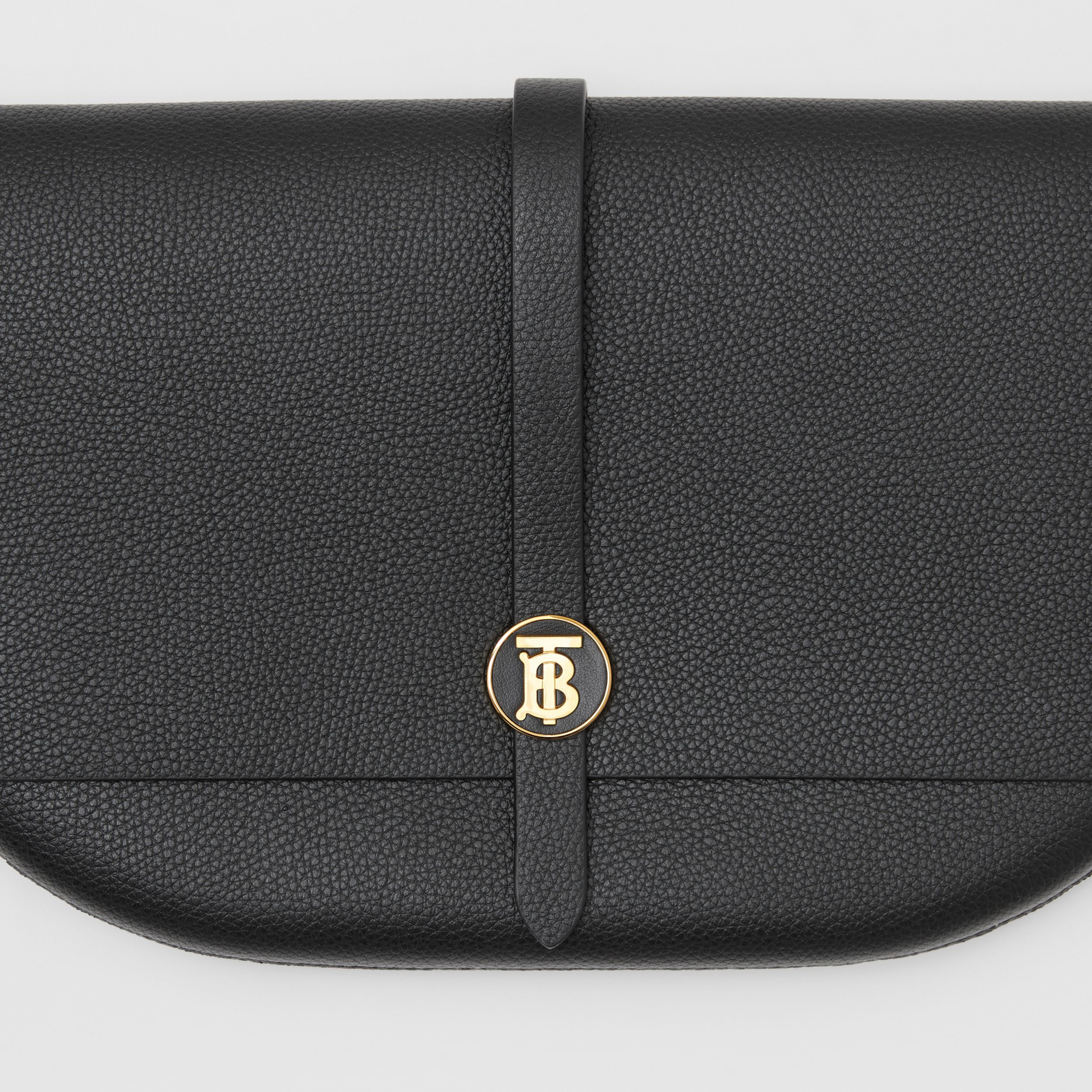 Grainy Leather Anne Clutch in Black - Women | Burberry Australia - 2