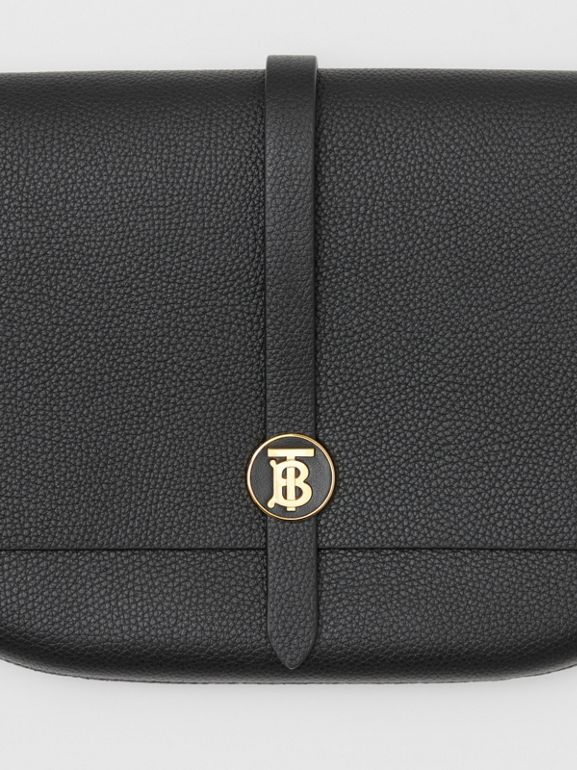 Grainy Leather Anne Clutch in Black - Women | Burberry United Kingdom - cell image 1