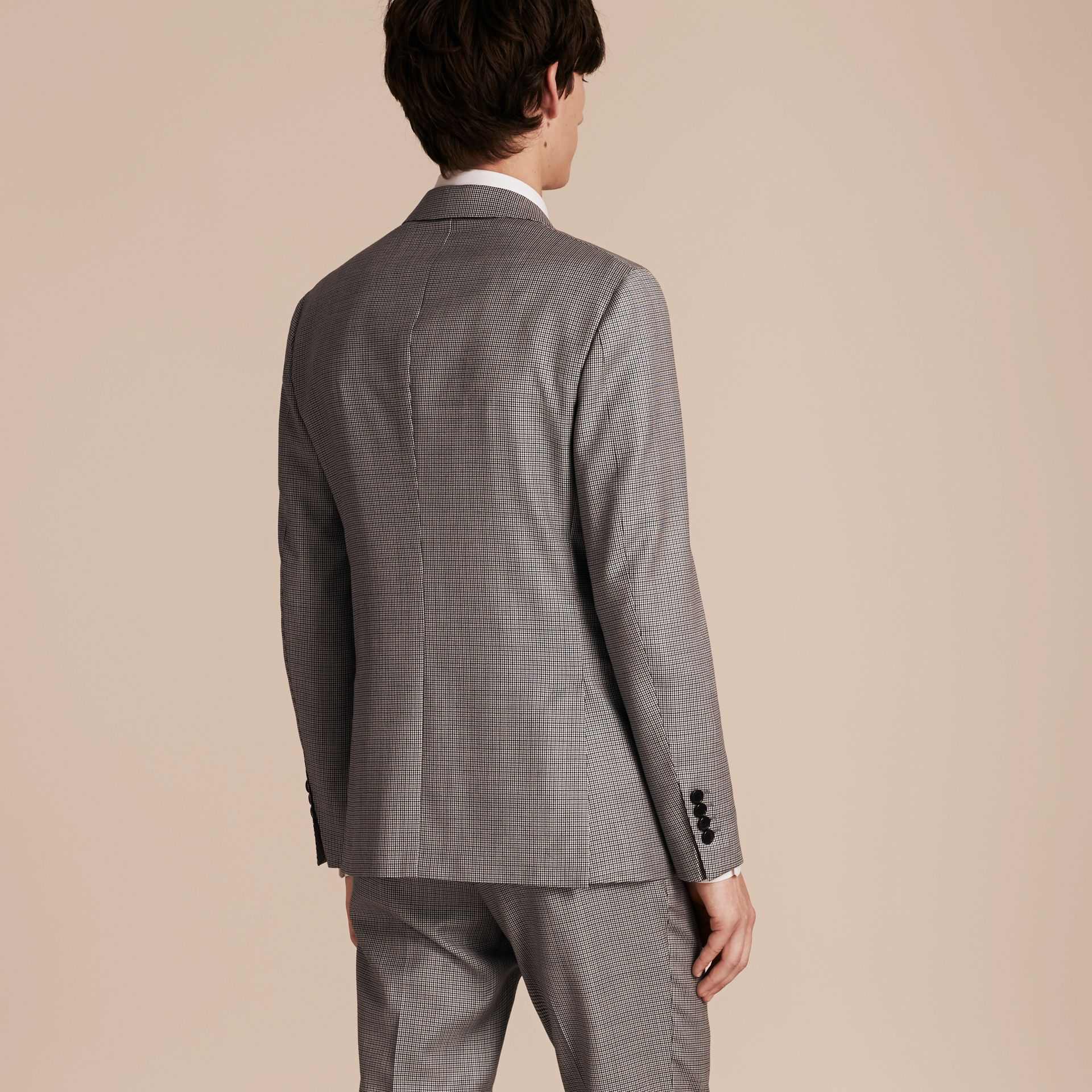 Slim Fit Houndstooth Wool Tailored Jacket - Men | Burberry - gallery image 3