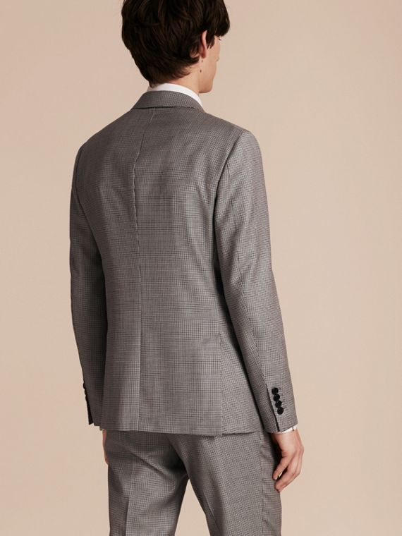 Slim Fit Houndstooth Wool Tailored Jacket - Men | Burberry - cell image 2