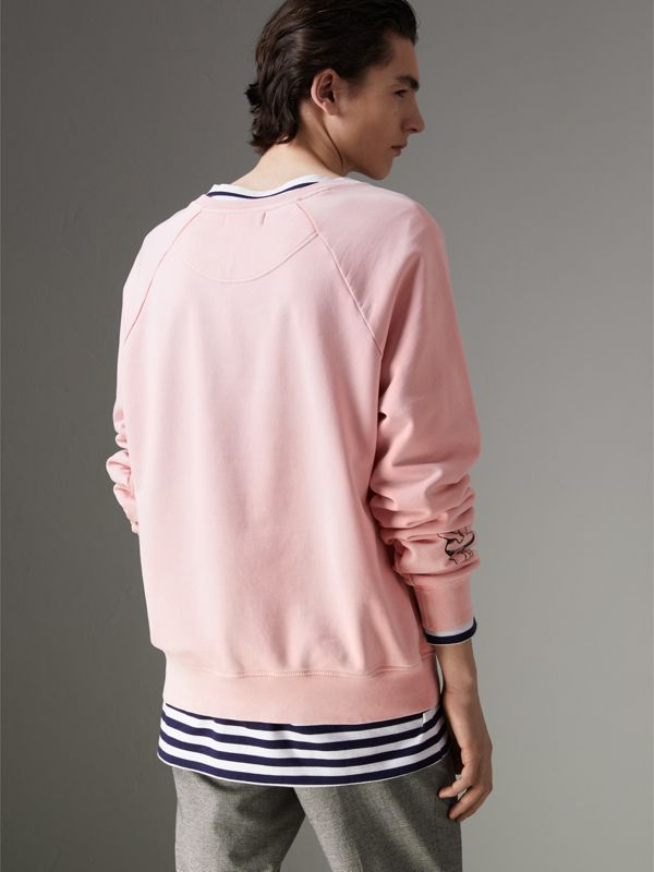Adventure Print Cotton Sweatshirt in Light Pink - Men | Burberry - cell image 2