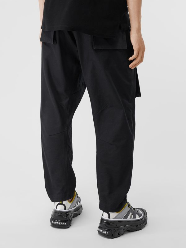 Cotton Cargo Trousers in Black - Men | Burberry - cell image 2