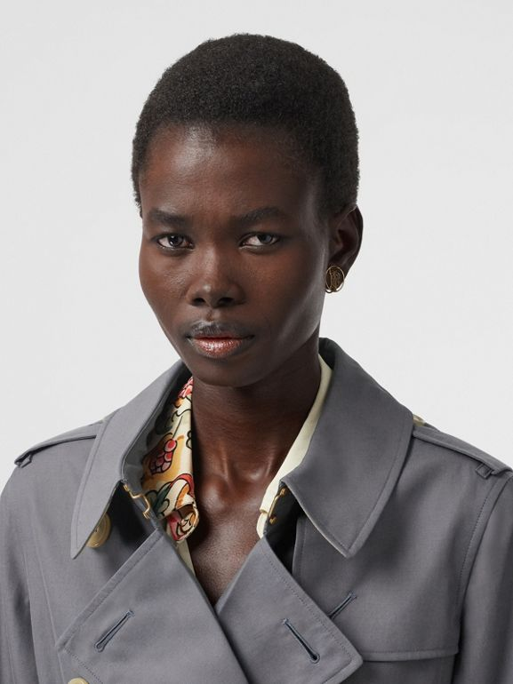 Tropical Gabardine Trench Coat in Mid Grey - Women | Burberry - cell image 1