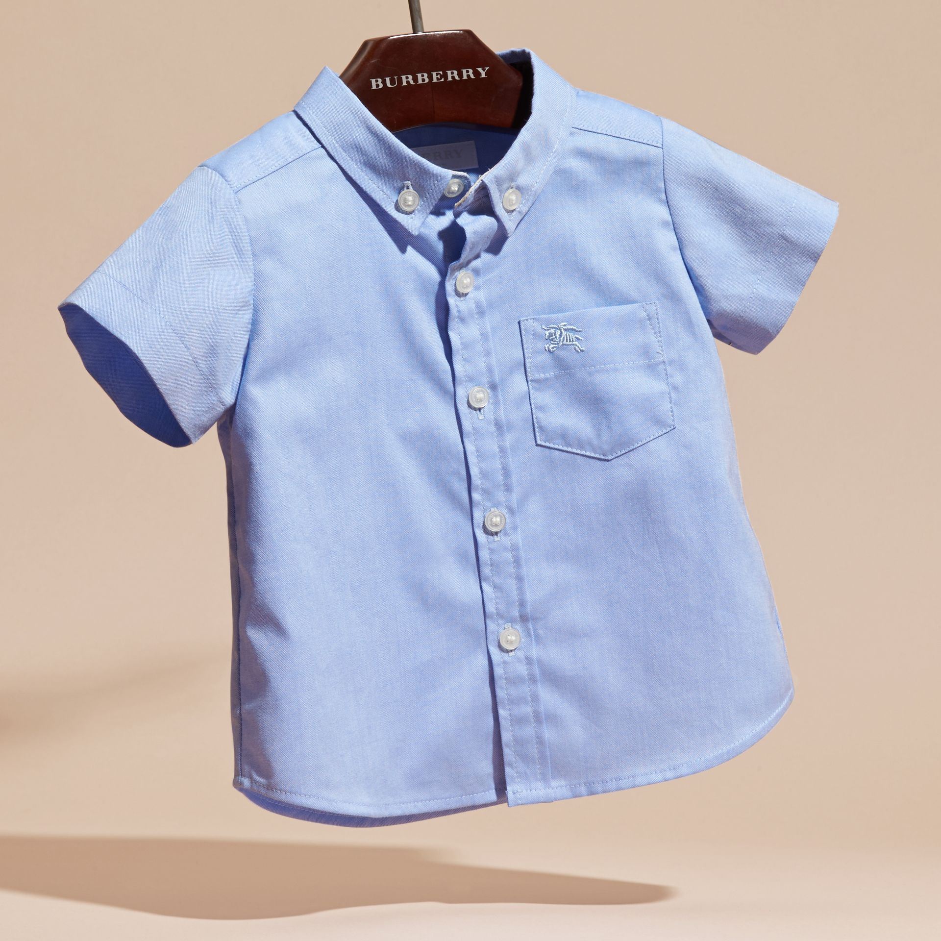 Cornflower blue Classic Oxford Shirt - gallery image 3