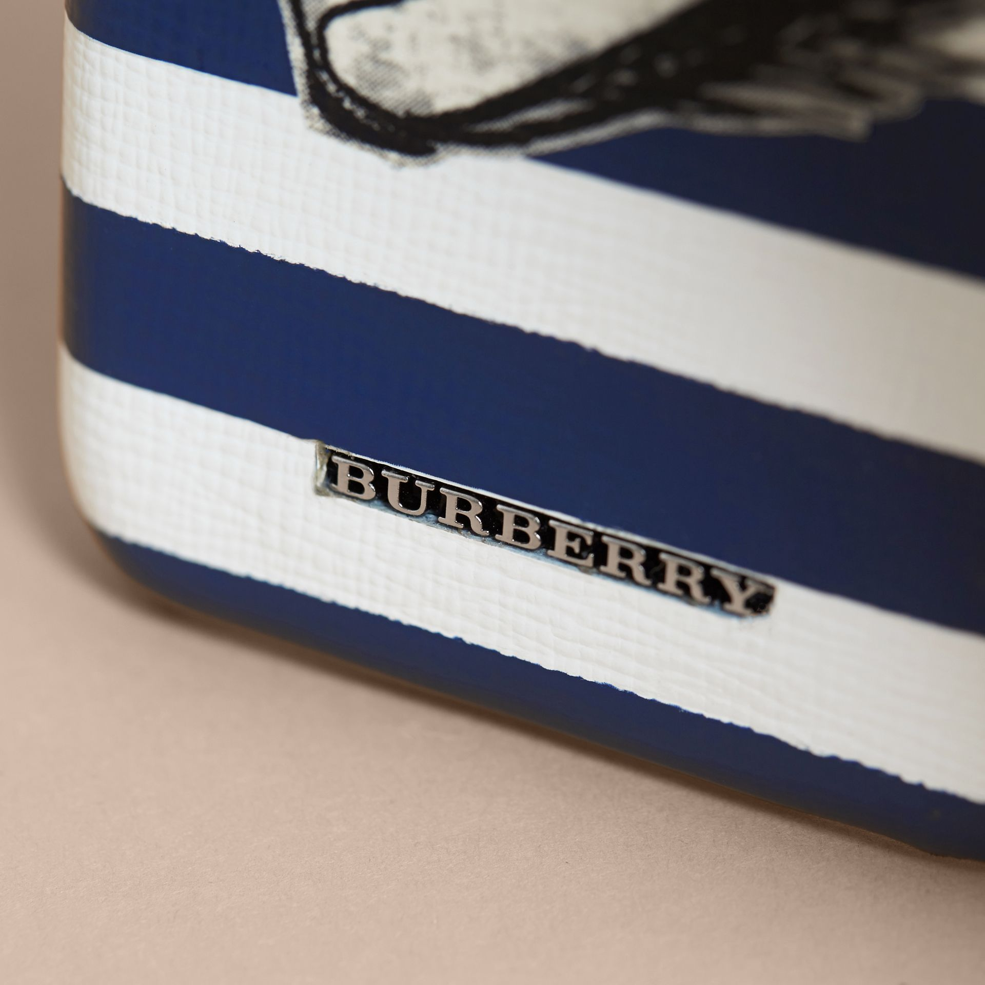 Pallas Helmet Motif London Leather iPhone 7 Case in Bright Cyan Blue - Men | Burberry - gallery image 2