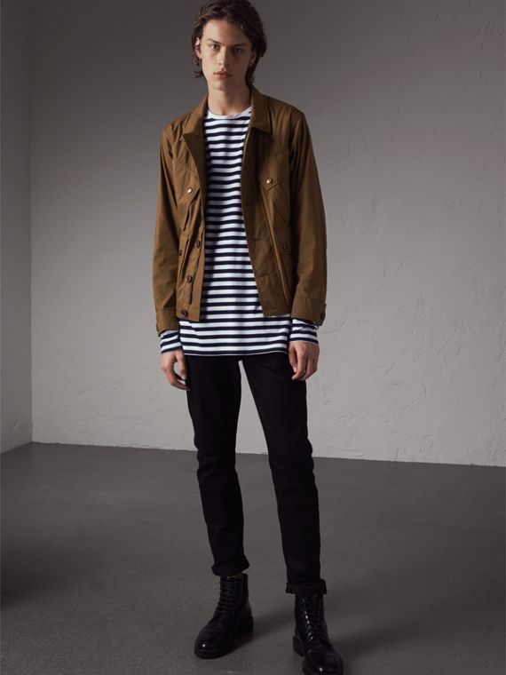Technical Cotton Canvas Field Jacket - Men | Burberry - cell image 3