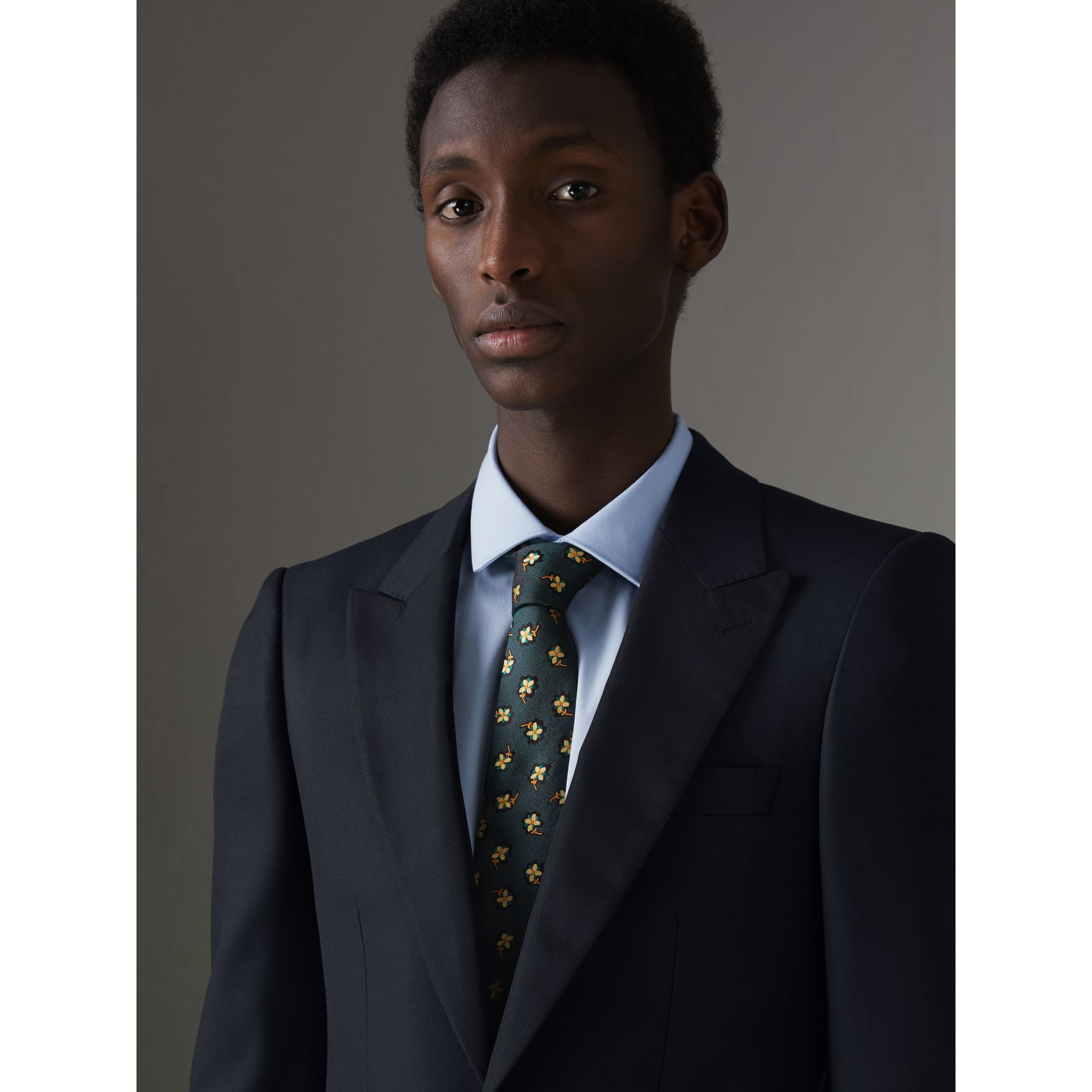 Slim Fit Wool Half-canvas Tuxedo in Navy - Men | Burberry Singapore - gallery image 1