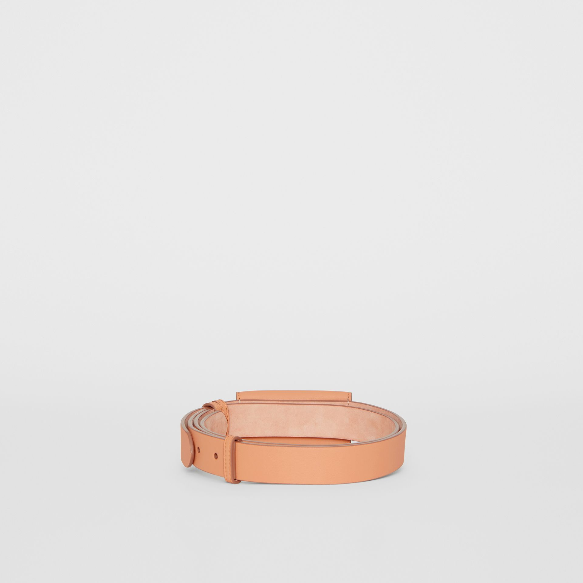 Envelope Detail Leather Belt in Pale Brick - Women | Burberry Australia - gallery image 4