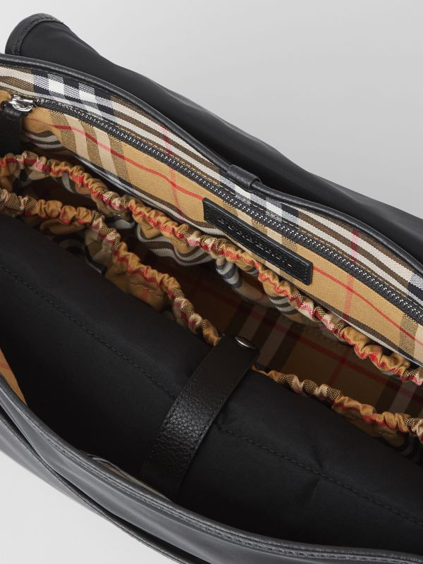 Vintage Check-lined Baby Changing Shoulder Bag in Black - Children | Burberry - cell image 3