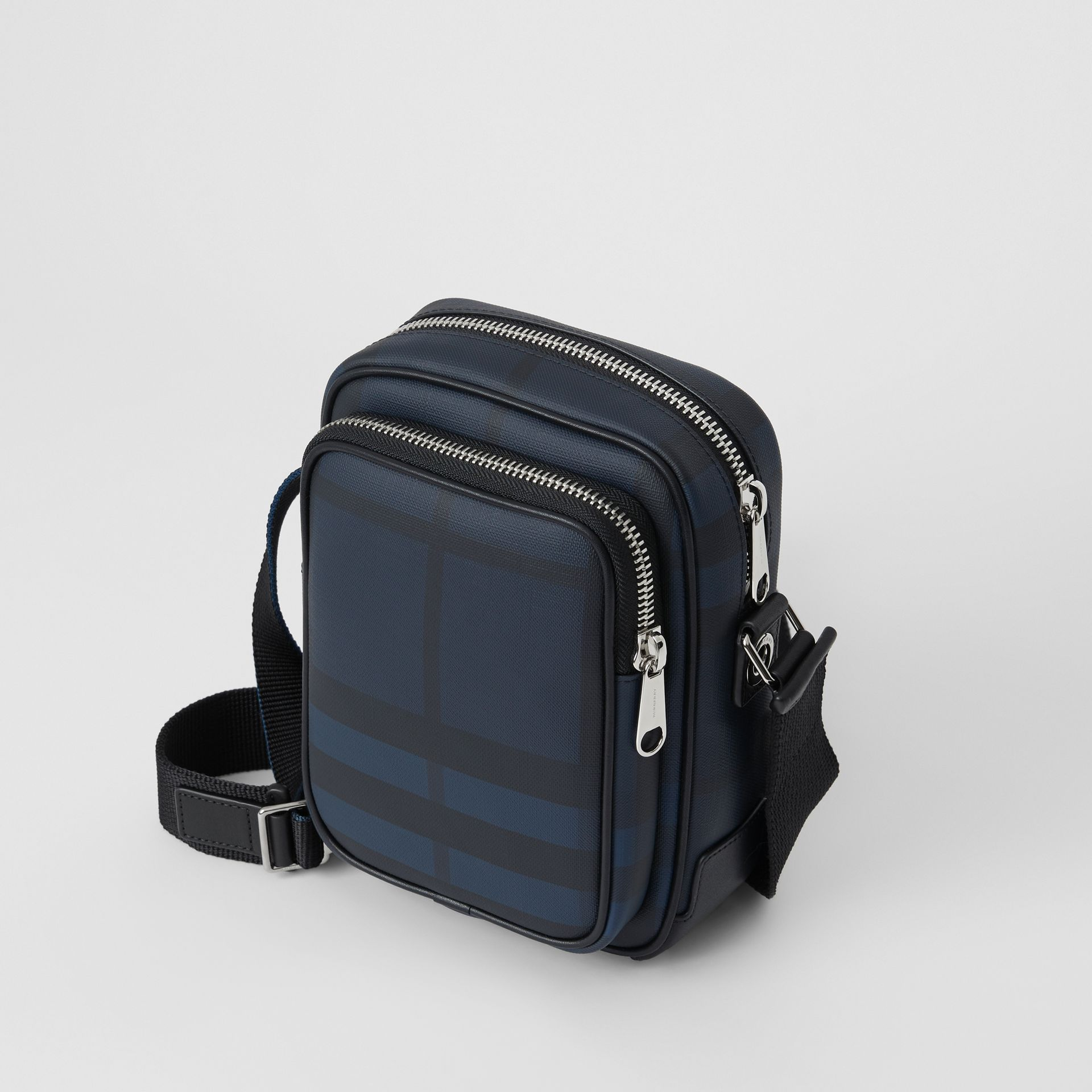 Small London Check Crossbody Bag in Navy/black - Men | Burberry - gallery image 2