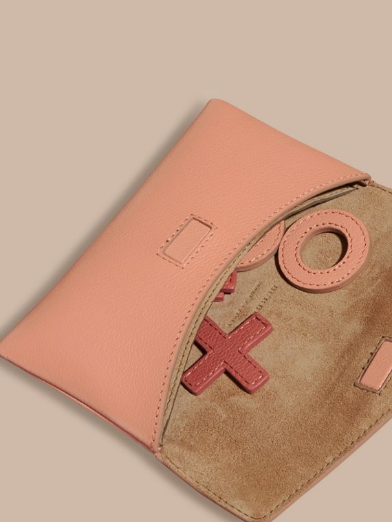 Leather Noughts and Crosses Set and Case in Pink Apricot | Burberry - cell image 3