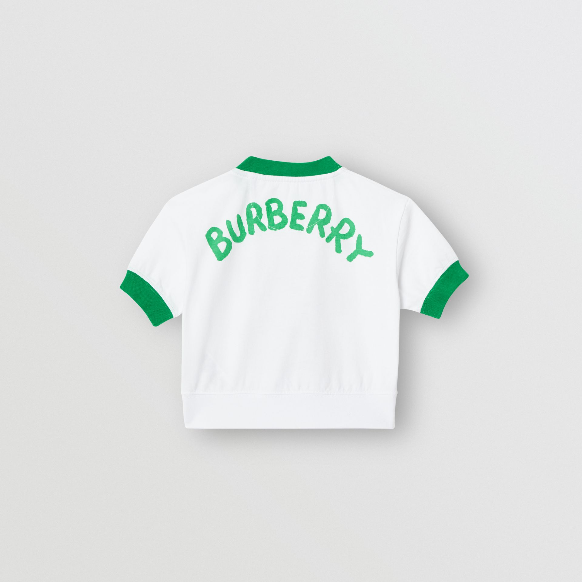 Cartoon Print Cotton T-shirt in White - Children | Burberry - gallery image 3