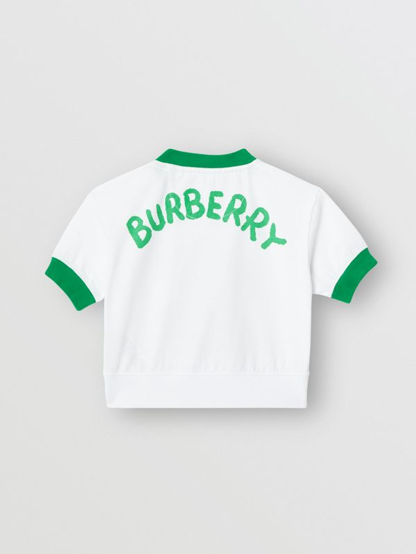 Cartoon Print Cotton T-shirt in White - Children | Burberry - cell image 3