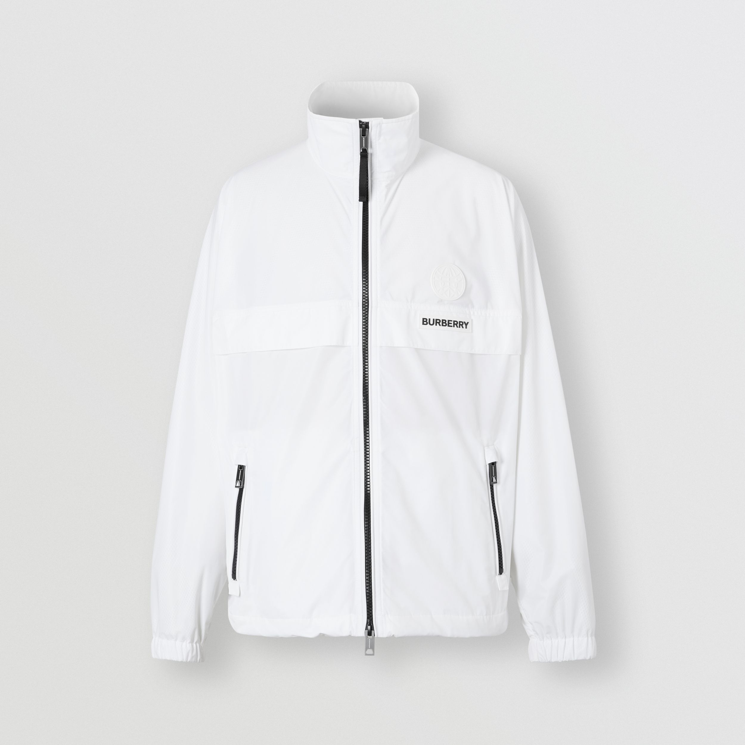 Globe Graphic Shape-memory Taffeta Jacket in Optic White - Men | Burberry - 4