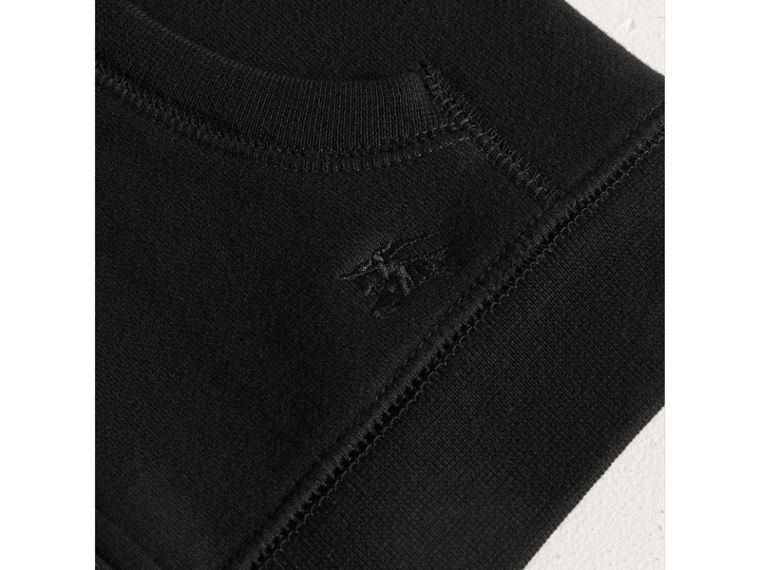 Hooded Cotton Top in Black - Boy | Burberry - cell image 1