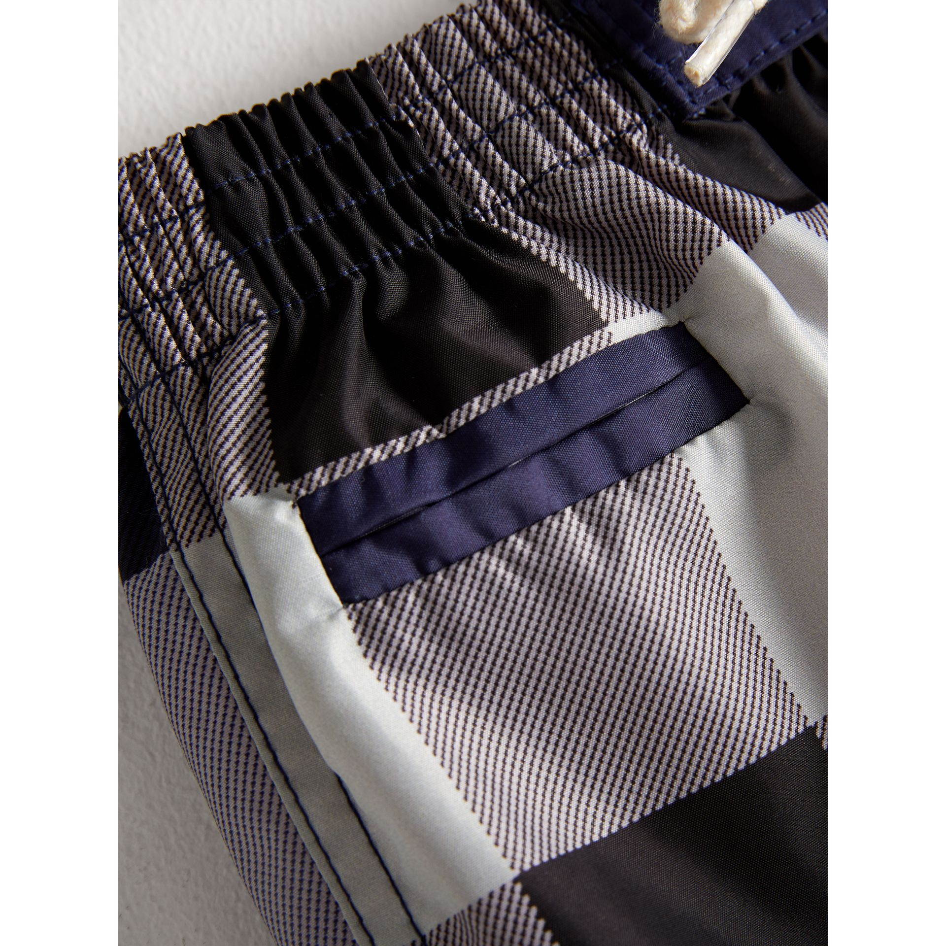 Check Technical Swim Shorts in Ink | Burberry United Kingdom - gallery image 1