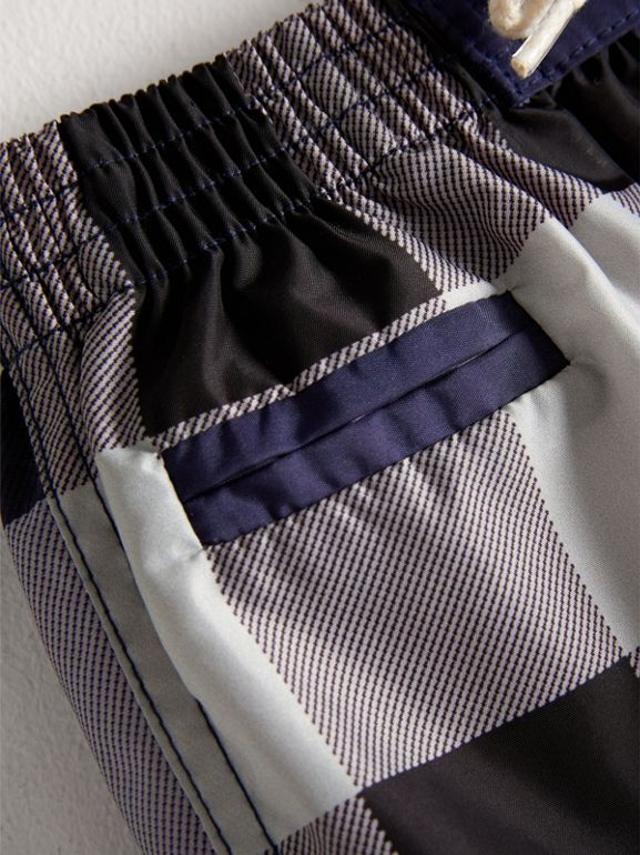 Check Technical Swim Shorts in Ink | Burberry United Kingdom - cell image 1