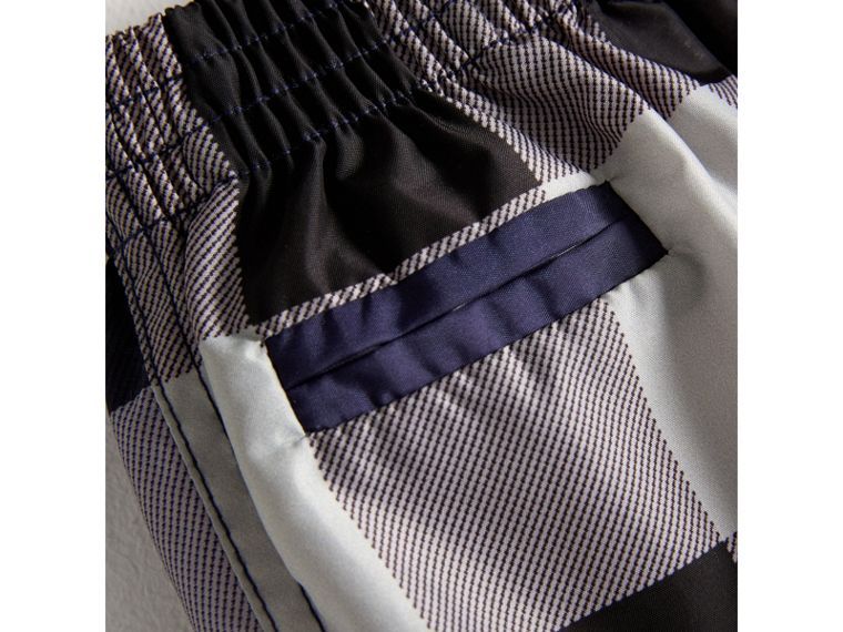 Check Technical Swim Shorts in Ink | Burberry Australia - cell image 1