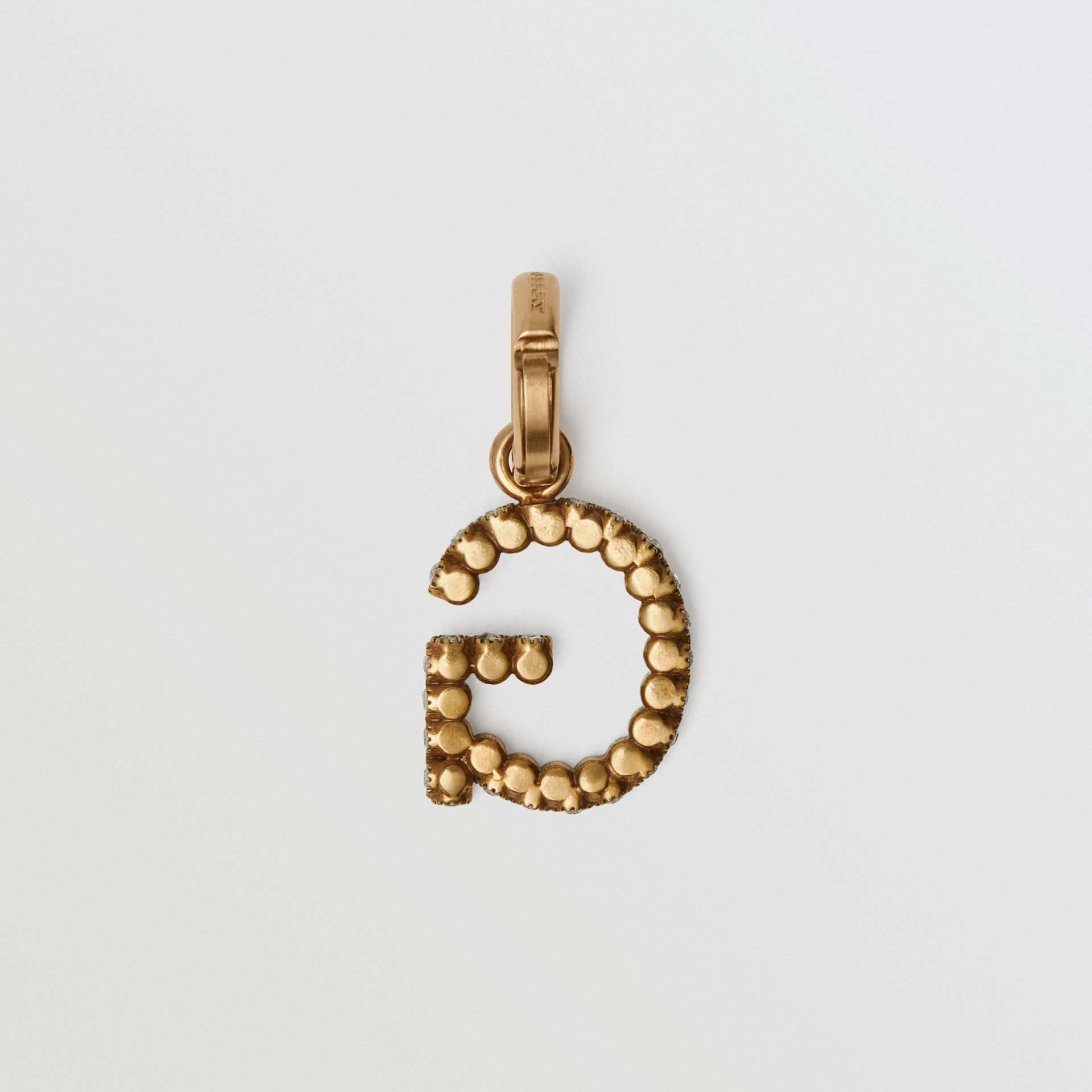 Crystal 'G' Alphabet Charm - Women | Burberry United Kingdom - gallery image 3