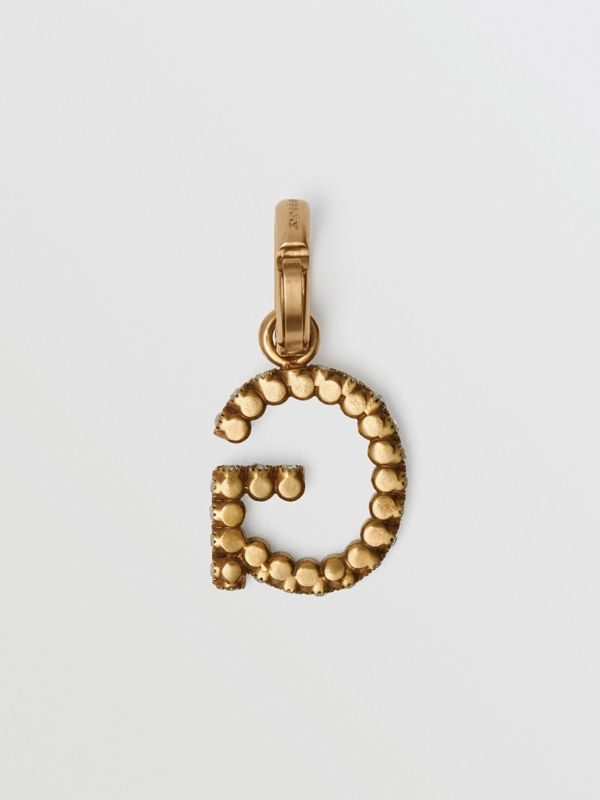 Crystal 'G' Alphabet Charm - Women | Burberry United States - cell image 3