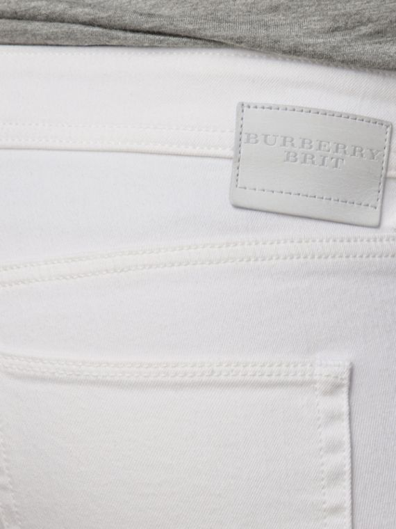 White Skinny Fit Low-Rise White Jeans - cell image 3