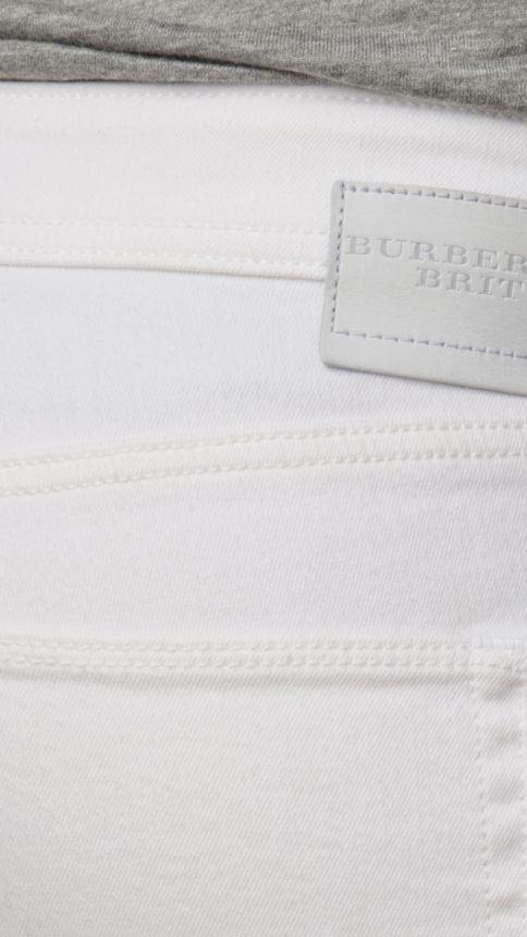 White Skinny Fit Low-Rise White Jeans - Image 4