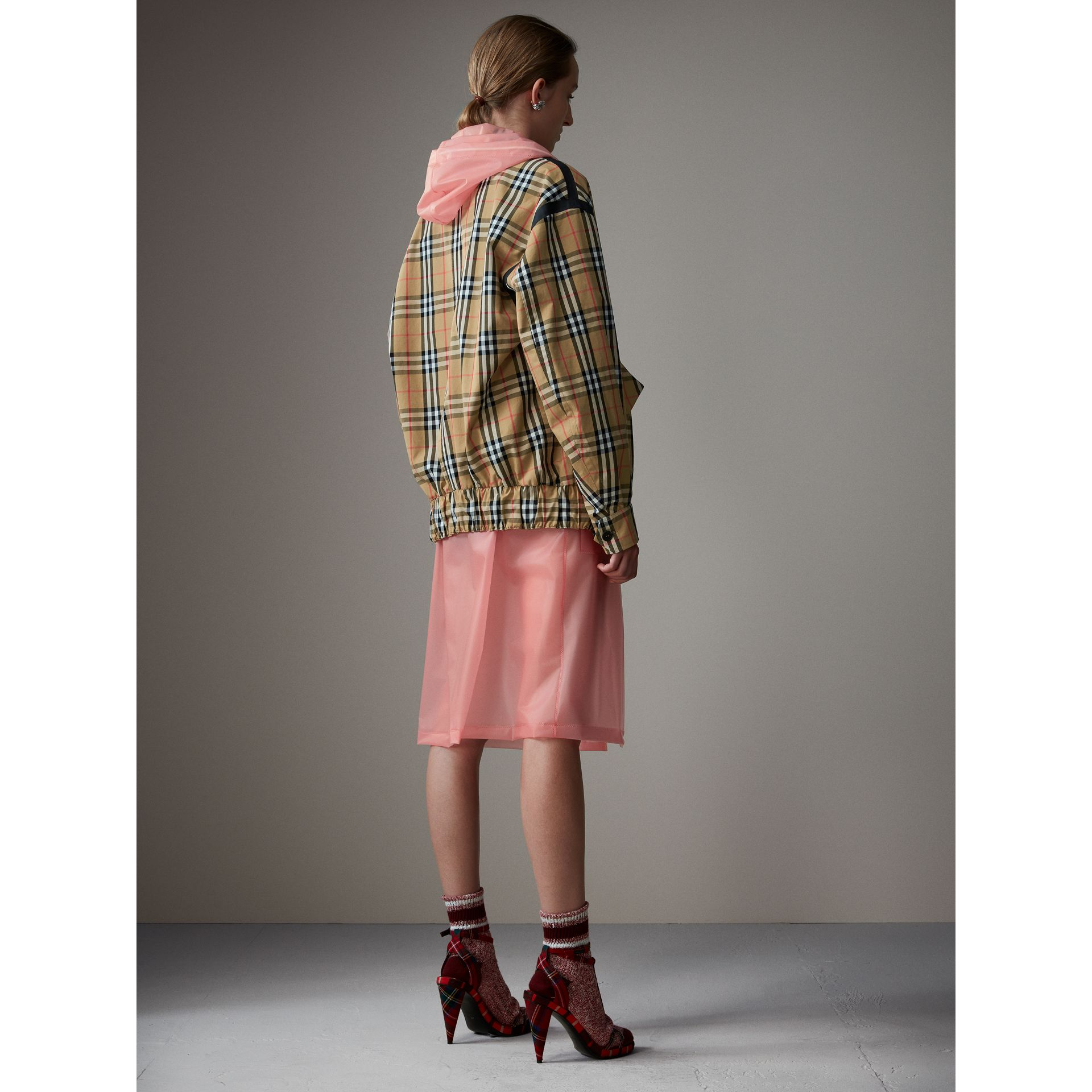 Vintage Check Gabardine Harrington Jacket in Antique Yellow - Women | Burberry - gallery image 3