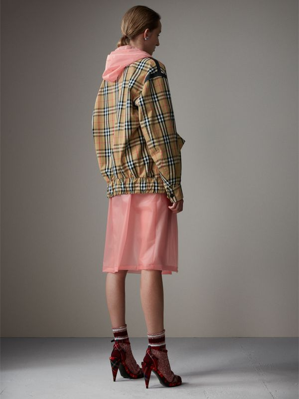 Vintage Check Gabardine Harrington Jacket in Antique Yellow - Women | Burberry - cell image 2