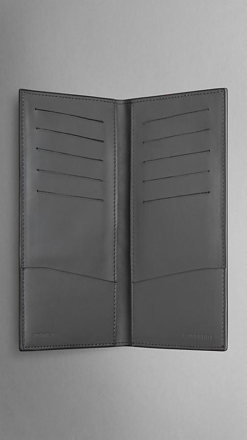 Mid grey melange Lizard Folding Wallet - Image 4