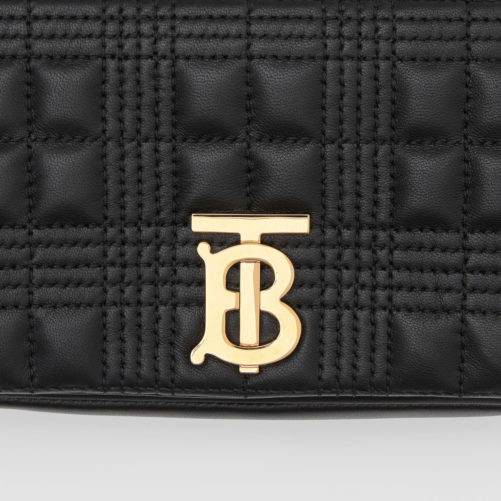 Mini Quilted Lambskin Lola Bag in Black/light Gold - Women | Burberry - gallery image 1