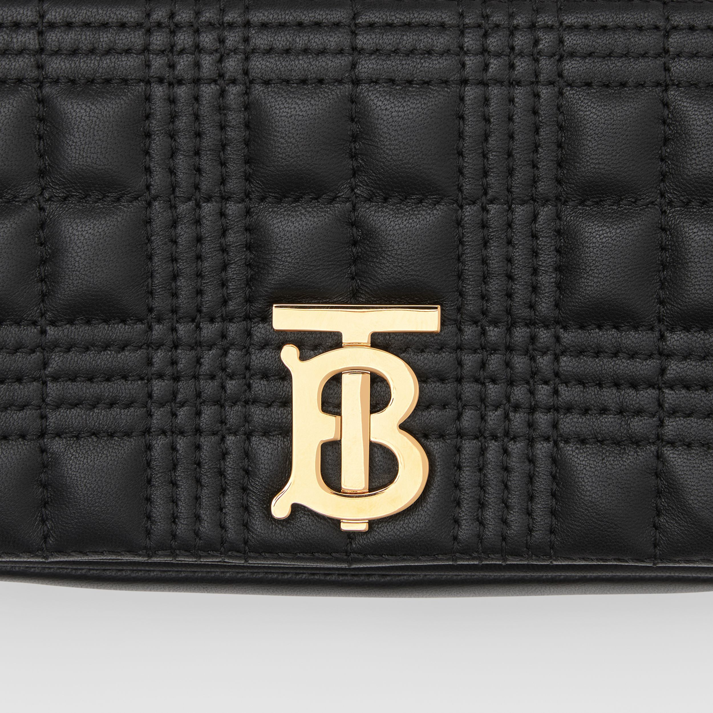 Mini Quilted Lambskin Lola Bag in Black - Women | Burberry - 2