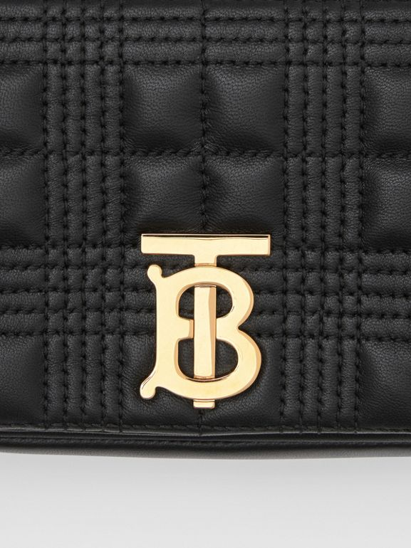 Mini Quilted Lambskin Lola Bag in Black/light Gold - Women | Burberry - cell image 1