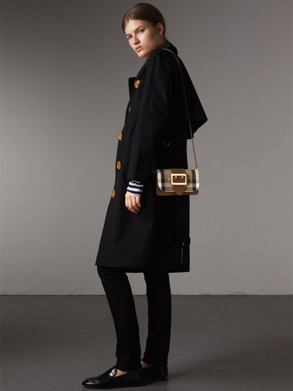 The Small Buckle Bag in House Check and Leather in Tan - Women | Burberry United States - cell image 2