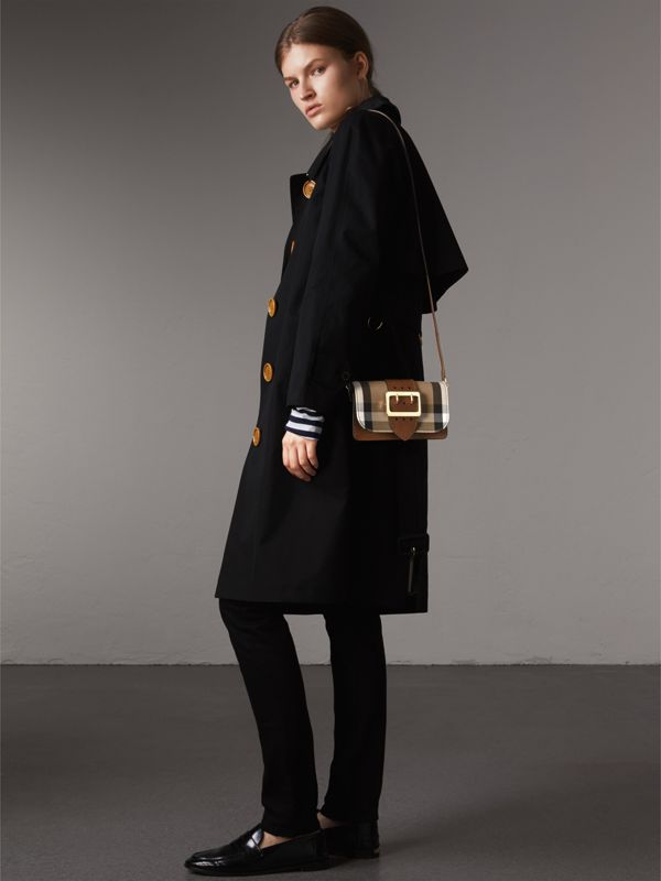 The Small Buckle Bag in House Check and Leather in Tan - Women | Burberry - cell image 2