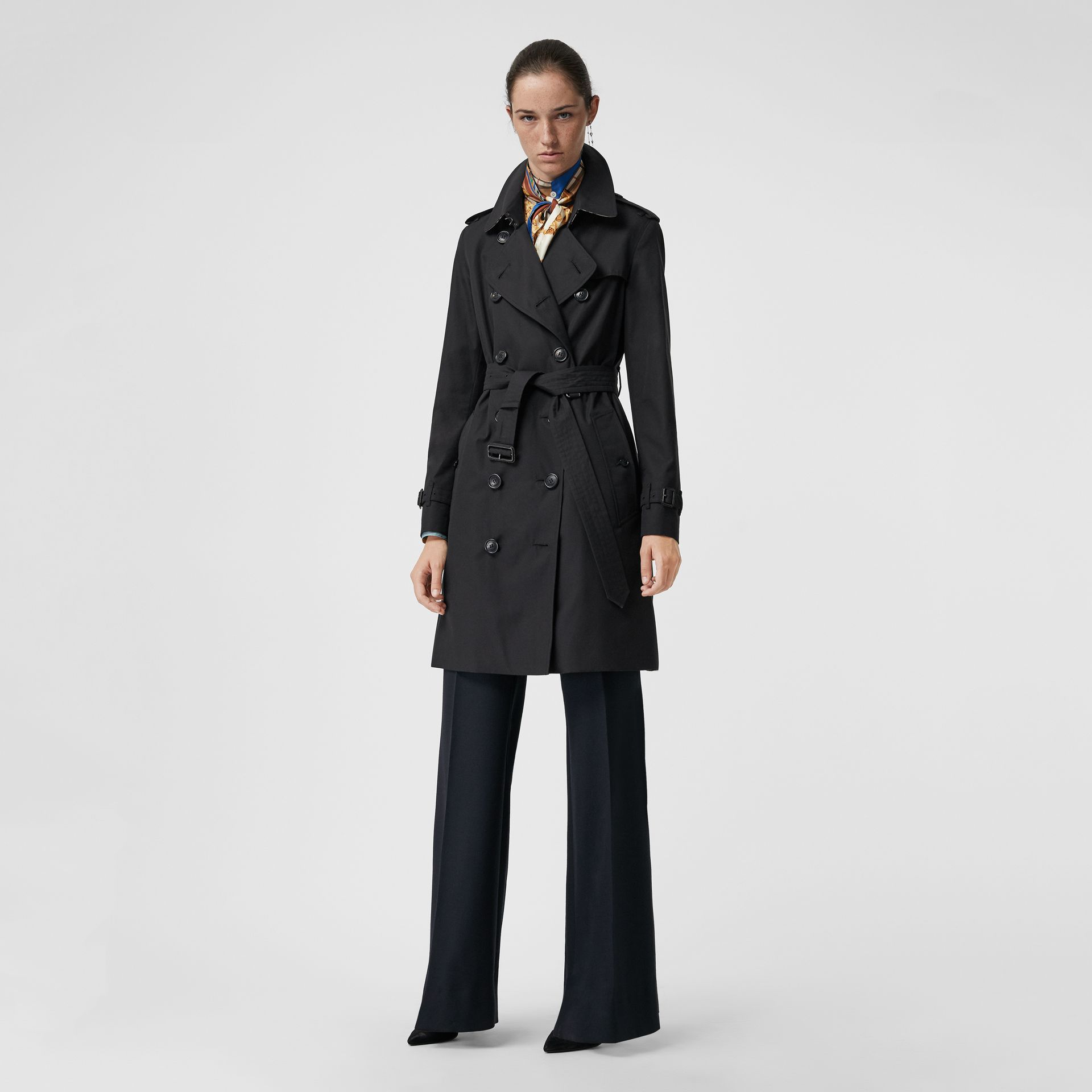 Trench coat Heritage The Kensington (Blu Notte) - Donna | Burberry - immagine della galleria 0