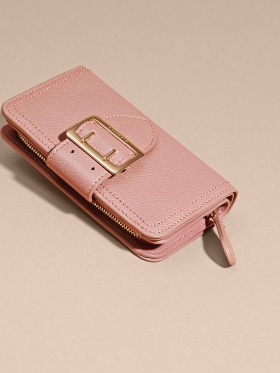 Dusty pink Buckle Detail Grainy Leather Wallet Dusty Pink - cell image 2