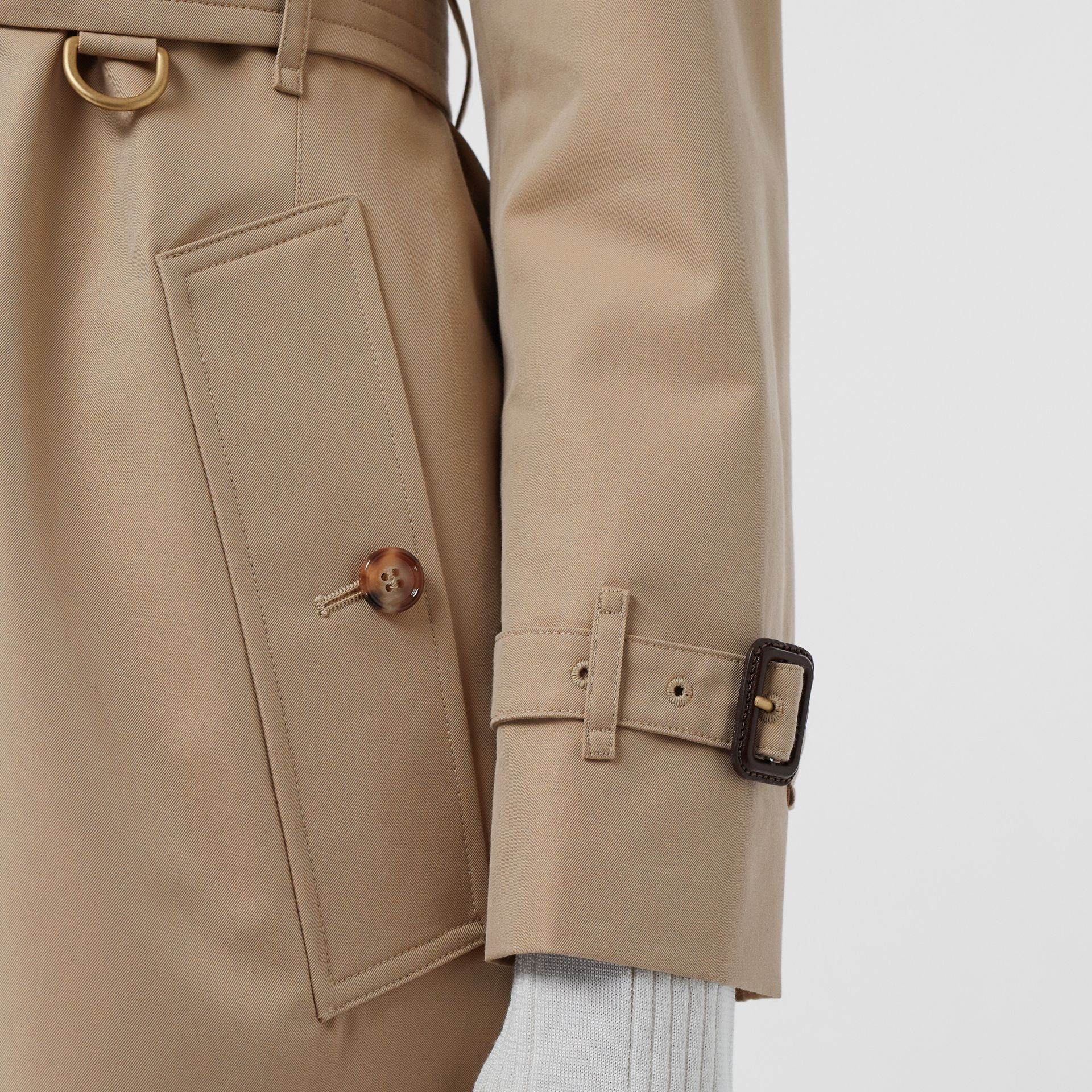 Cotton Gabardine Trench Coat in Honey - Women | Burberry Singapore - gallery image 5
