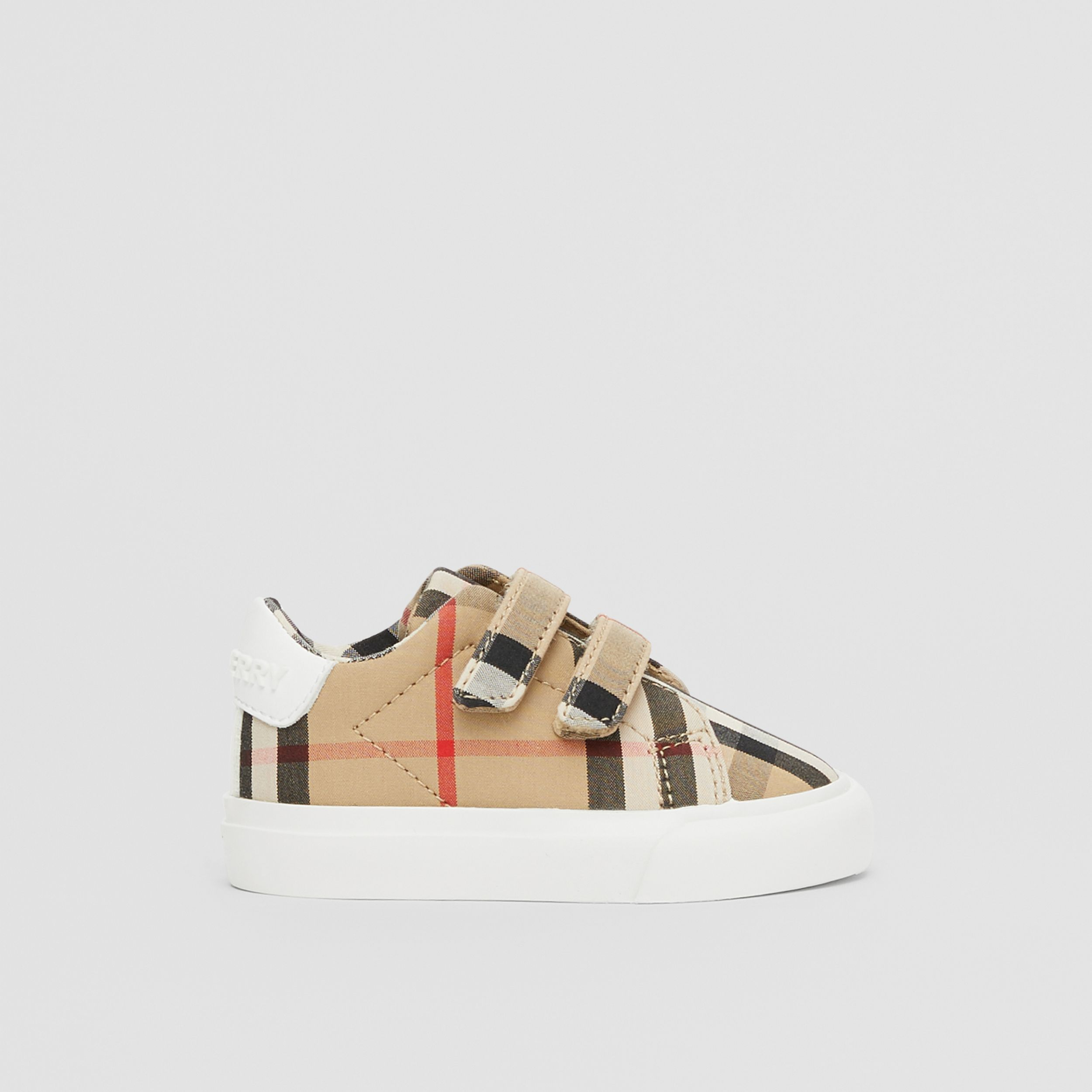 Vintage Check Cotton Sneakers in Archive Beige - Children | Burberry Australia - 4