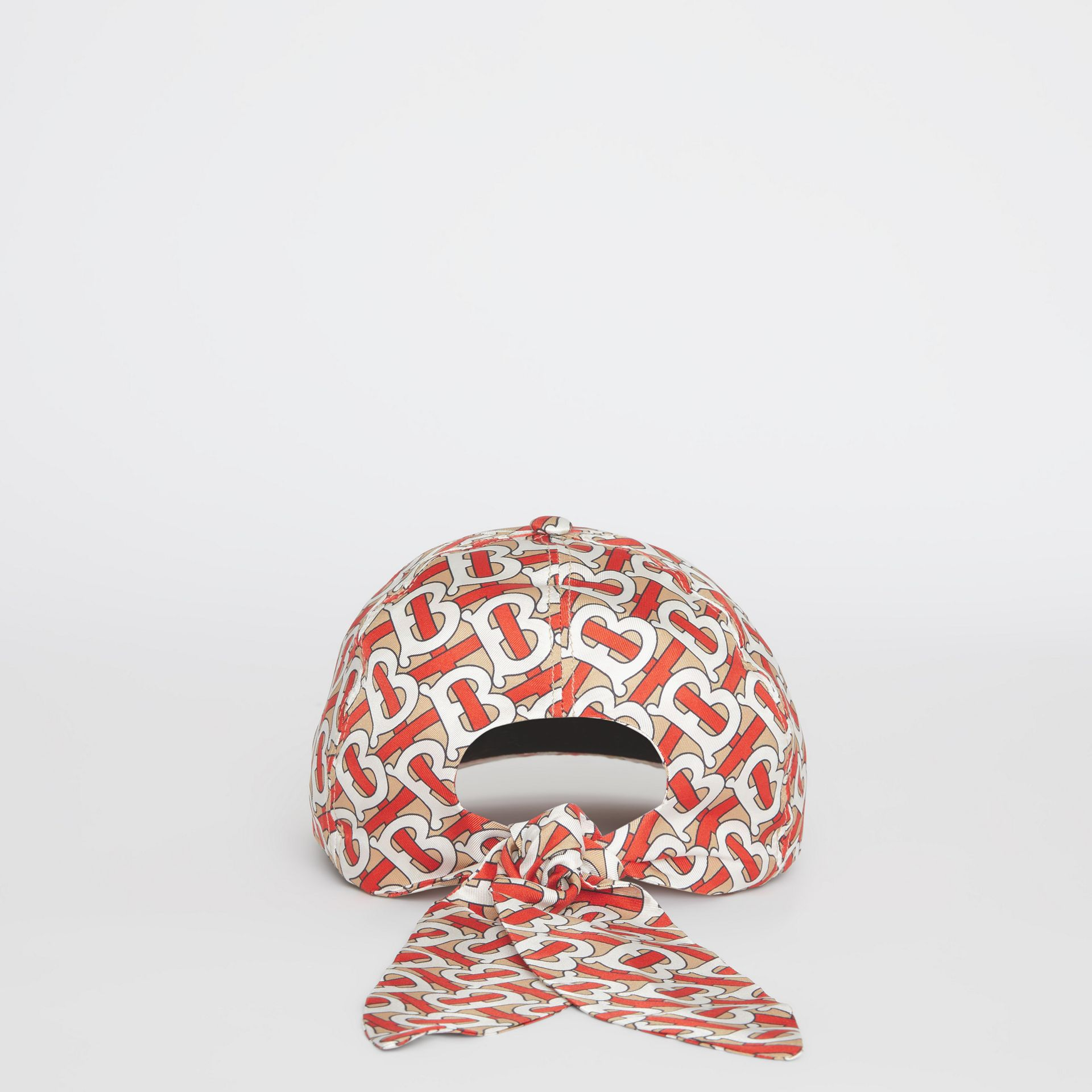 Casquette de baseball Monogram (Vermillon) - Femme | Burberry - photo de la galerie 4