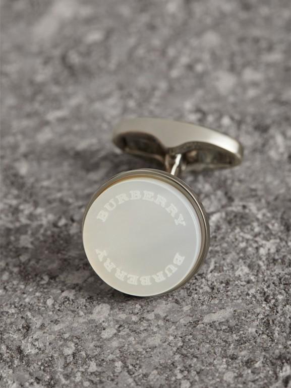 Abotoaduras redondas de madrepérola (Pérola) - Homens | Burberry - cell image 1