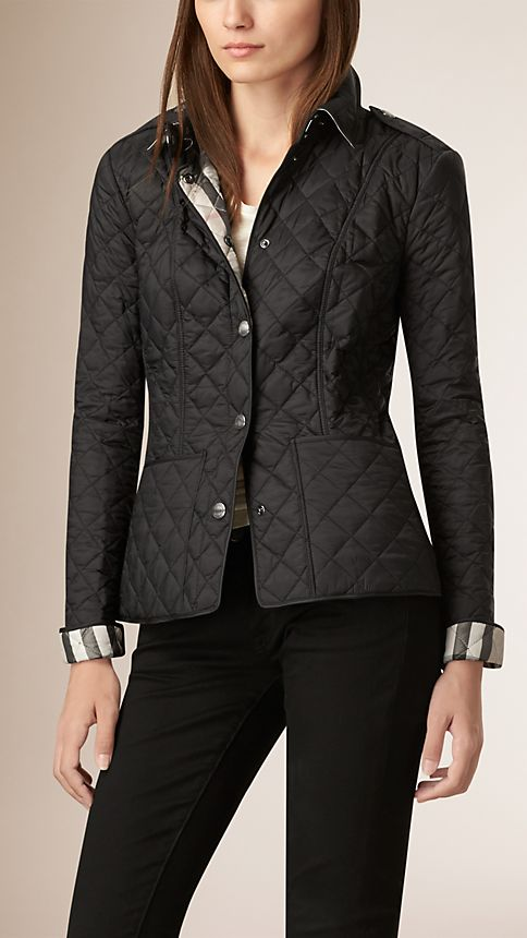 Black Diamond Quilted Jacket Black - Image 2