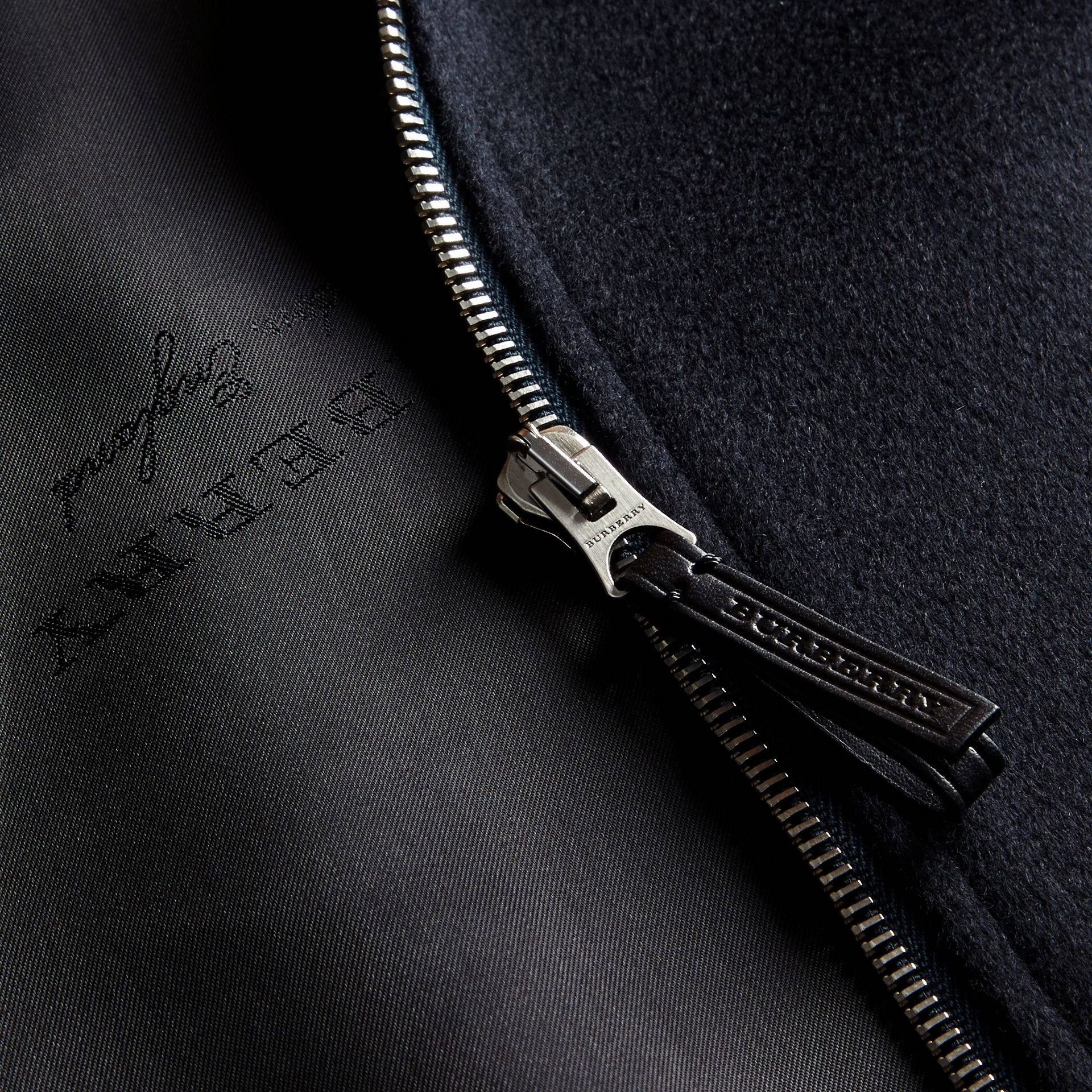 Navy Cashmere Jacket - gallery image 2