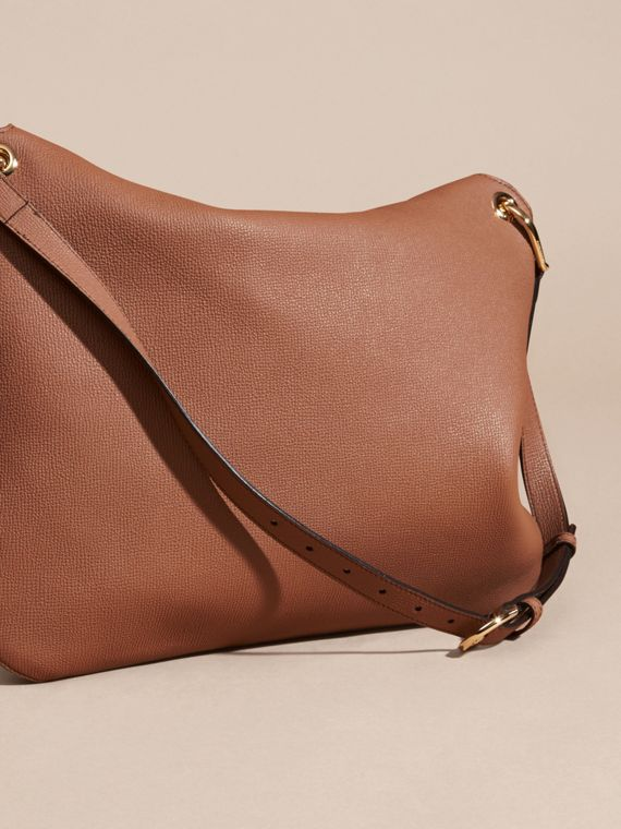 Dark sand Grainy Leather and House Check Shoulder Bag Dark Sand - cell image 3